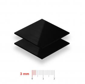 Geschuimd PVC zwart 3mm